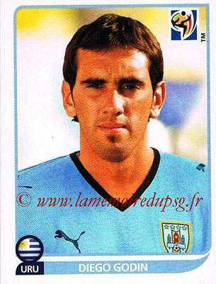 2010 - Panini FIFA World Cup South Africa Stickers - N° 072 - Diego GODIN (Uruguay)