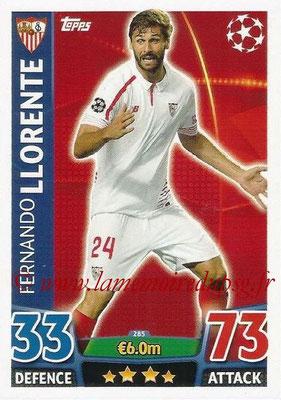 2015-16 - Topps UEFA Champions League Match Attax - N° 285 - Fernando LLORENTE (FC Seville)