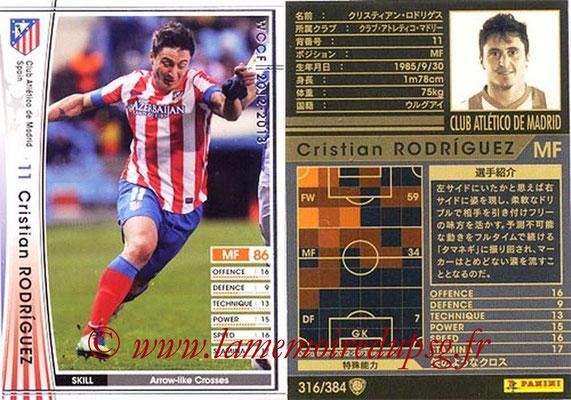 2012-13 - WCCF - N° 316 - Cristian RODRIGUEZ (Atletico  Madrid)