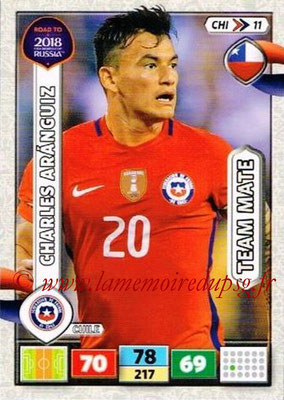 2018 - Panini Road to FIFA World Cup Russia Adrenalyn XL - N° CHI11 - Charles ARANGUIZ (Chili)