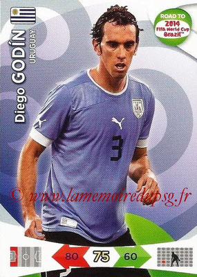 2014 - Panini Road to FIFA World Cup Brazil Adrenalyn XL - N° 184 - Diego GODIN (Uruguay)