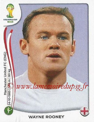2014 - Panini FIFA World Cup Brazil Stickers - N° 316 - Wayne ROONEY (Angleterre)