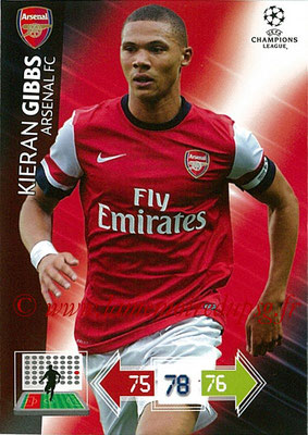 2012-13 - Adrenalyn XL champions League N° 019 - Kieran GIBBS (Arsenal FC)