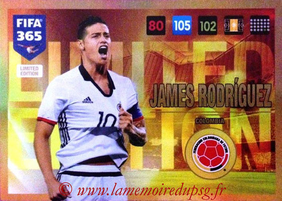2016-17 - Panini Adrenalyn XL FIFA 365 - N° LE61 - James RODRIGUEZ (Colombiei) (Limited Edition)