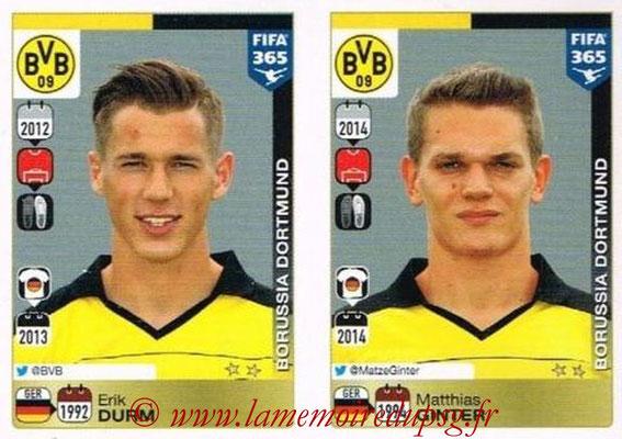 2015-16 - Panini FIFA 365 Stickers - N° 494-495 - Erik DURM + Matthias GINTER (Borussia Dortmund)