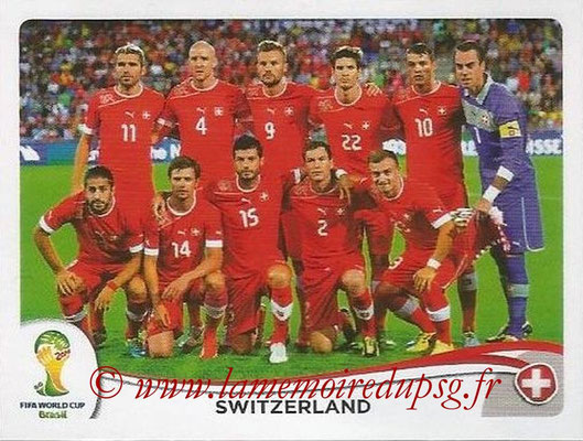 2014 - Panini FIFA World Cup Brazil Stickers - N° 337 - Equipe Suisse