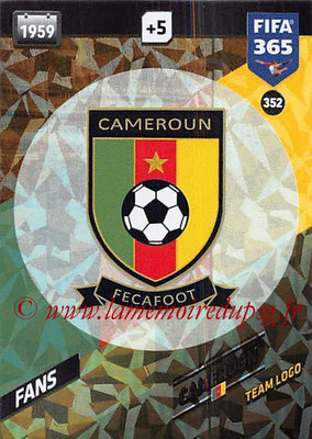 2017-18 - Panini FIFA 365 Cards - N° 352 - Logo Cameroun (Team Logo)