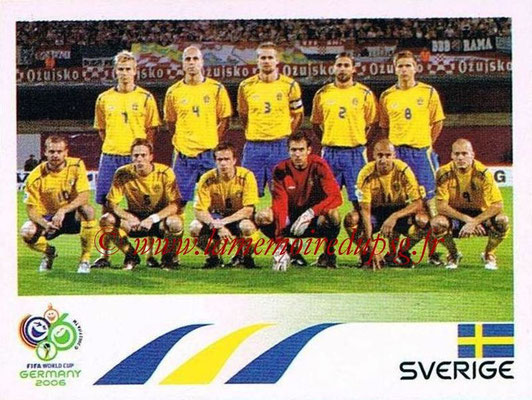 2006 - Panini FIFA World Cup Germany Stickers - N° 150 - Équipe Suède