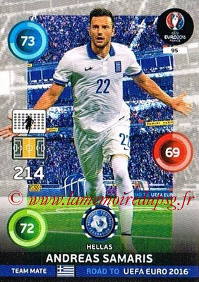 Panini Road to Euro 2016 Cards - N° 095 - Andreas SAMARIS (Grèce)