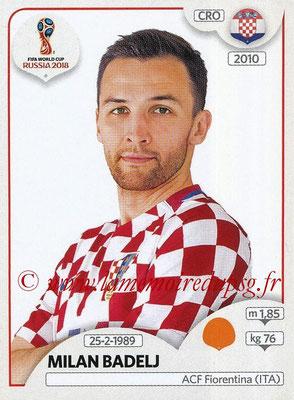2018 - Panini FIFA World Cup Russia Stickers - N° 326 - Milan BADELJ (Croatie)