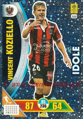 2017-18 - Panini Adrenalyn XL Ligue 1 - N° 388 - Vincent KOZIELLO (Nice) (Idole)
