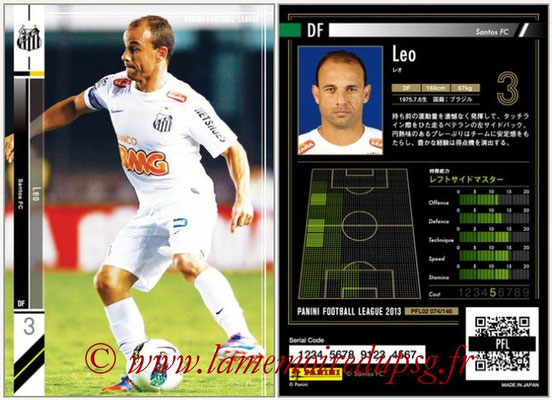 Panini Football League 2013 - PFL02 - N° 074 - Leo ( Santos FC )