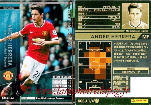 2014-15 - WCCF - N° RGS A1 - Ander HERRERA (Manchester United FC) (Rising Star)