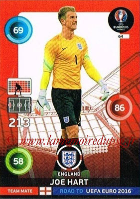 Panini Road to Euro 2016 Cards - N° 064 - Joe HART (Angleterre)