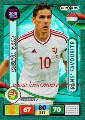 2018 - Panini Road to FIFA World Cup Russia Adrenalyn XL - N° HUN06 - Zoltan GERA (Hongrie) (Fans' Favourite)
