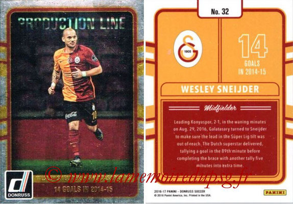 2016 - Panini Donruss Cards - N° PL32 - Wesley SNEIJDER (Galatasaray AS) (Production Line)