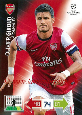 2012-13 - Adrenalyn XL champions League N° 022 - Olivier GIROUD (Arsenal FC)s