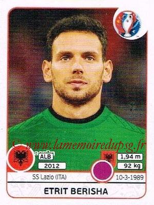 Panini Euro 2016 Stickers - N° 069 - Etrit BERISHA (Albanie)