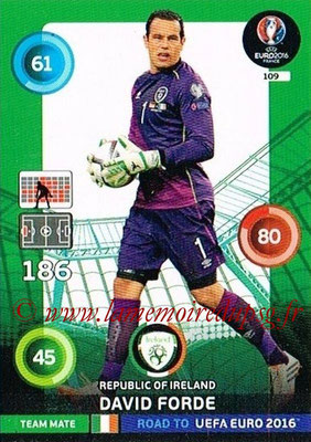 Panini Road to Euro 2016 Cards - N° 109 - David FORDE (Eire)