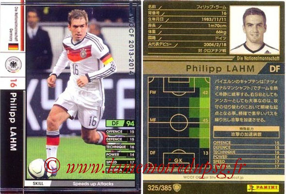 2013-14 - WCCF - N° 325 - Philipp LAHM (Allemagne)
