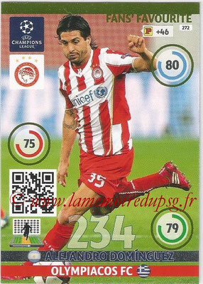 2014-15 - Adrenalyn XL champions League N° 272 - Alejandro DOMINGUEZ (Olympiacos FC) ( Fans' Favourite)