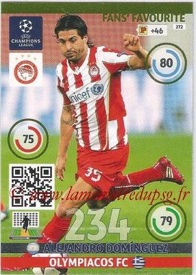 2014-15 - Adrenalyn XL champions League N° 272 - Alejandro DOMINGUEZ (Olympiacos FC) ( Fans' Favourite)