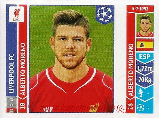 2014-15 - Panini Champions League N° 149 - Alberto MORENO (Liverpool FC)