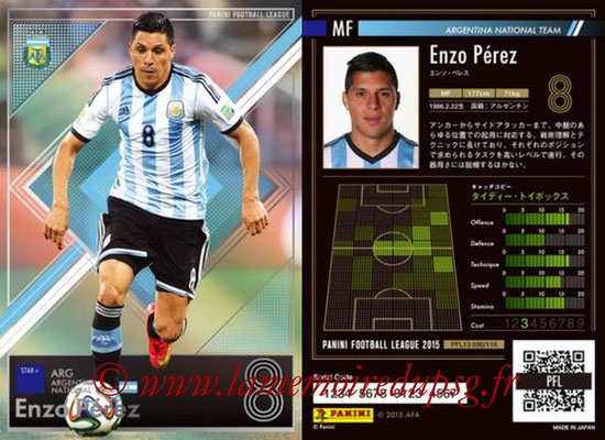 Panini Football League 2015 - PFL13 - N° 090 - Enzo PEREZ (Argentine) (Star +)