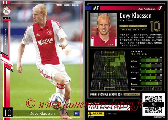Panini Football League 2015 - PFL09 - N° 095 - Davy KLAASSEN (Ajax)