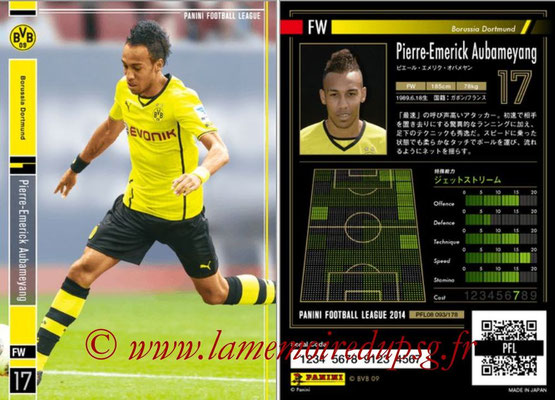 Panini Football League 2014 - PFL08 - N° 093 - Pierre-Emerick AUBAMEYANG (Borussia Dortmund)