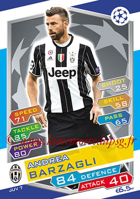 2016-17 - Topps UEFA Champions League Match Attax - N° JUV7 - Andrea BARZAGLI (Juventus FC)