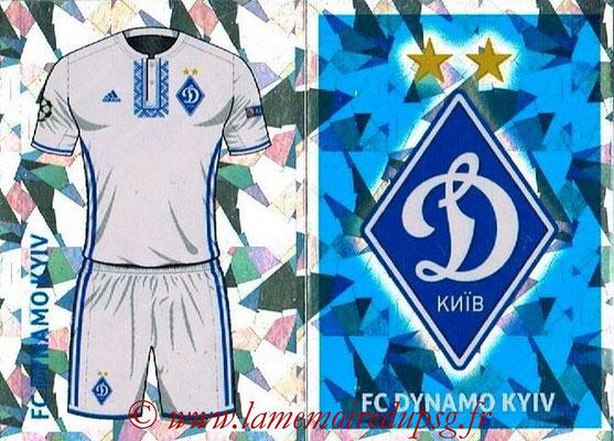 2016-17 - Tops UEFA Champions League Stickers - N° DYN 1-2 - Logo + Maillot Domicile (FC Dynamo Kiev)