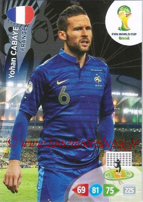 2014 - Panini FIFA World Cup Brazil Adrenalyn XL - N° 161 - Yohan CABAYE (France)