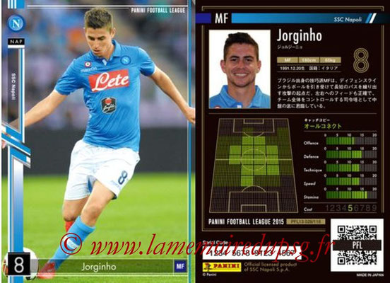 Panini Football League 2015 - PFL13 - N° 027 - JORGINHO (SSC Napoli)