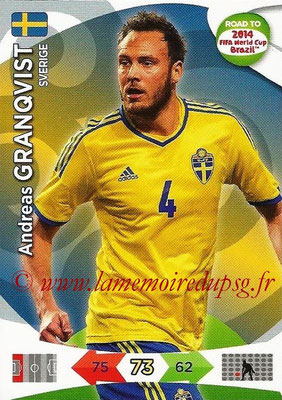 2014 - Panini Road to FIFA World Cup Brazil Adrenalyn XL - N° 168 - Andreas GRANQVIST (Suède)