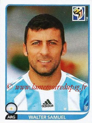 2010 - Panini FIFA World Cup South Africa Stickers - N° 111 - Walter SAMUEL (Argentine)