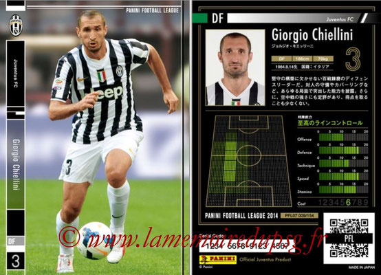 Panini Football League 2014 - PFL07 - N° 009 - Giorgio CHIELLINI (Juventus FC)