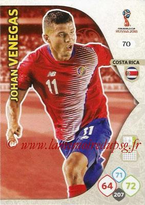 2018 - Panini FIFA World Cup Russia Adrenalyn XL - N° 070 - Johan VENEGAS (Costa Rica)