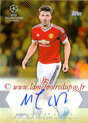 2015-16 - Topps UEFA Champions League Showcase Soccer - N° CLA-MC - Michael CARRICK (Manchester United FC) (Base Autographs Cards)