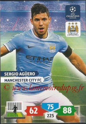 2013-14 - Adrenalyn XL champions League N° 170 - Sergio AGUERO (Manchester City FC)