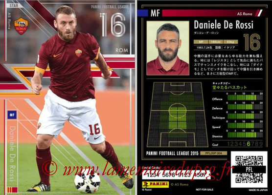 Panini Football League 2015 - PFL09P - N° 004 - Daniele DE ROSSI (AS Rome) (Star)