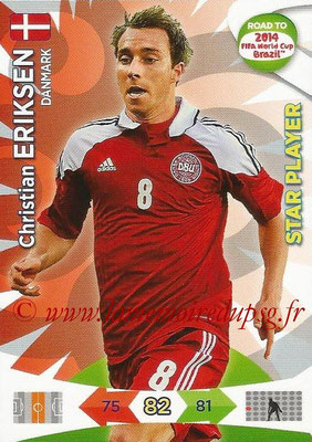 2014 - Panini Road to FIFA World Cup Brazil Adrenalyn XL - N° 042 - Christian ERIKSEN (Danemark) (Star Player)