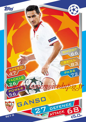 2016-17 - Topps UEFA Champions League Match Attax - N° SEV8 - GANSO (FC Seville)