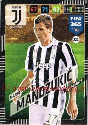 2017-18 - Panini FIFA 365 Cards - N° 223 - Mario MANDZUKIC (Juventus)