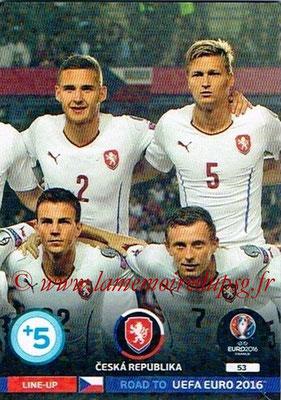 Panini Road to Euro 2016 Cards - N° 053 - Equipe République Tchèque 2