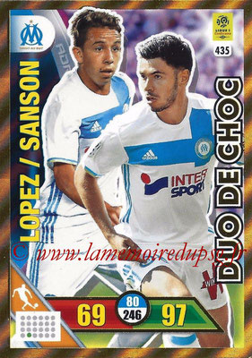 2017-18 - Panini Adrenalyn XL Ligue 1 - N° 435 - Maxime LOPEZ + Morgan SANSON (Marseille) (Duo de Choc)