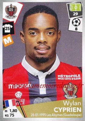 2017-18 - Panini Ligue 1 Stickers - N° 346 - Wylan CYPRIEN (Nice)