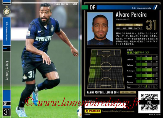 Panini Football League 2014 - PFL06 - N° 017 - Alvaro PEREIRA (FC Internazionale)