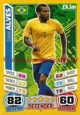 Topps Match Attax England 2014 - N° 035 - Dani ALVES (Brésil)