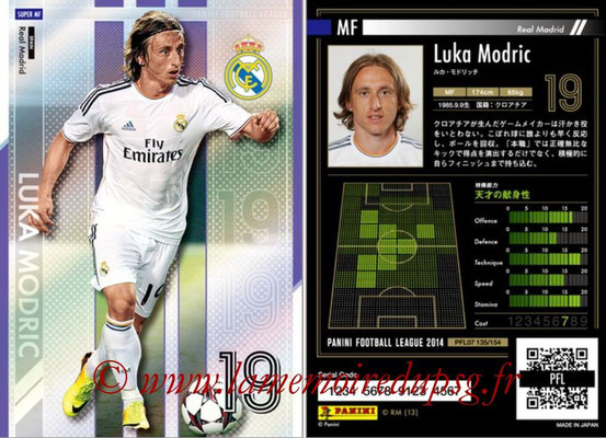 Panini Football League 2014 - PFL07 - N° 135 - Luka MODRIC (Real Madrid) (Super MF)